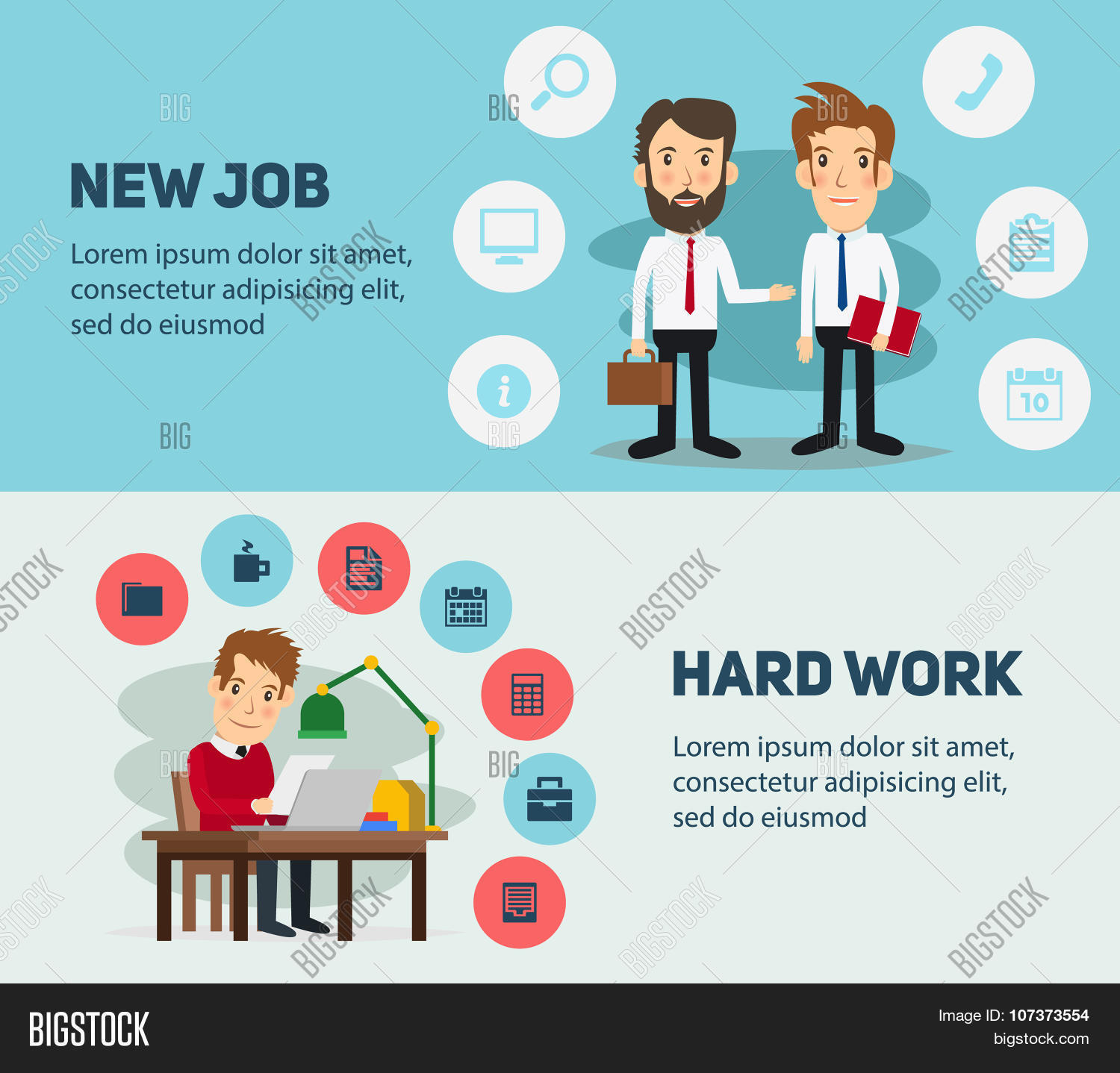 new job search and stress work infographic office life business new job search and stress work infographic office life business man people in action
