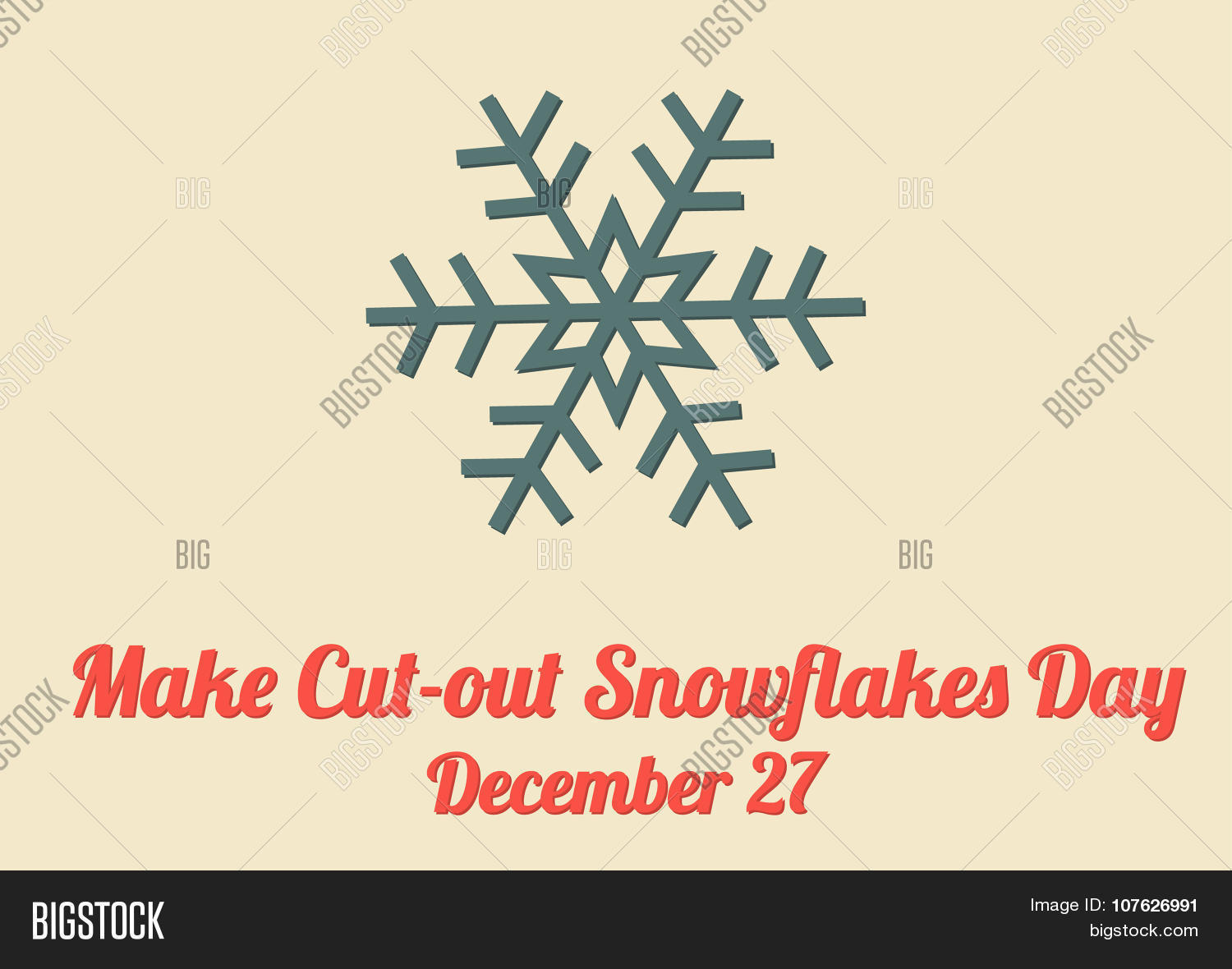 Poster Make Cut-out Snowflakes Day Vector & Photo | Bigstock