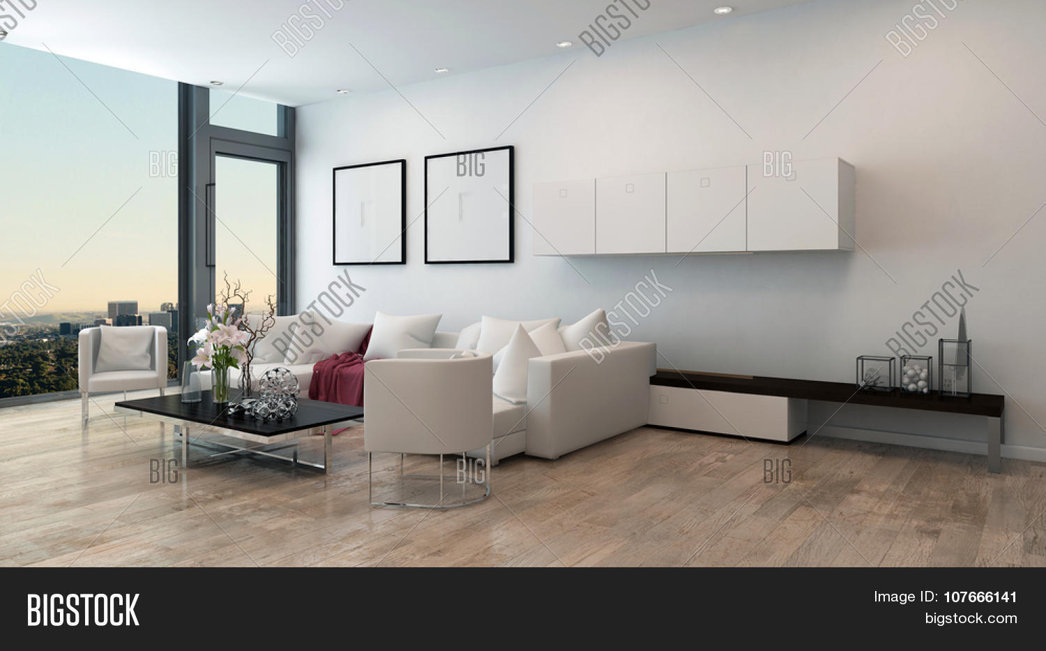 Architectural interior open concept image photo bigstock architectural interior of open concept apartment in high rise condo low coffee table and white geotapseo Image collections