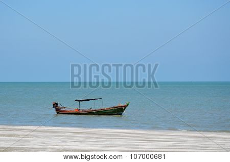 fishery boat on the seashore