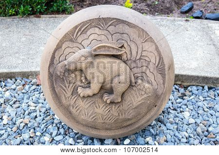 The Year of Rabbit, Chinese Zodiac Cement Craft at the public park of Thailand.