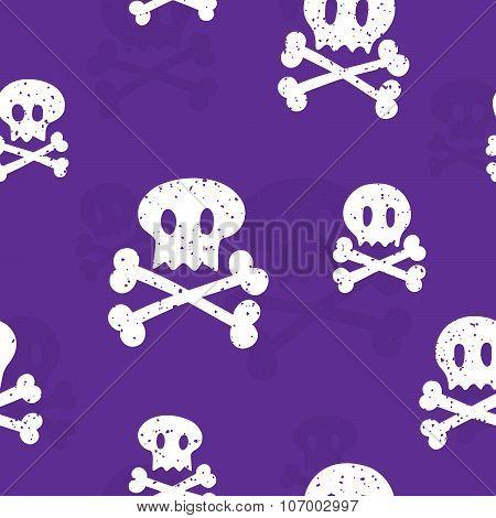 Crossbones pattern purple