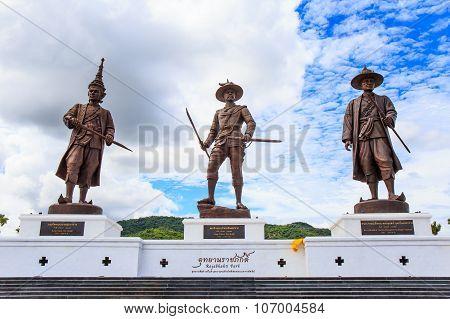 Great Giant 7 King Statues Hua Hin Thailand.