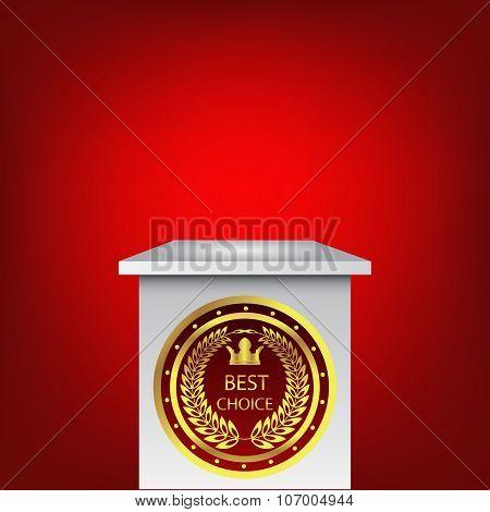 Single Empty Pedestal  Best Choice Vector Eps 10