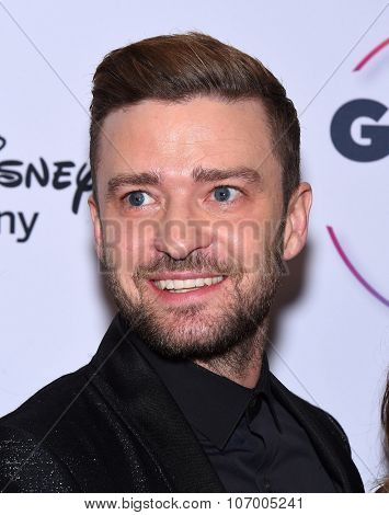 LOS ANGELES - OCT 23:  Justin Timberlake arrives to the GLSEN Awards 2015 on October 23, 2015 in Hollywood, CA.