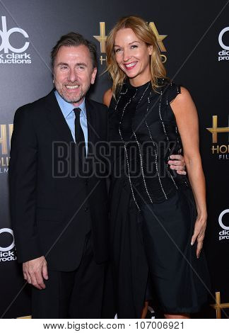 LOS ANGELES - NOV 1:  Tim Roth & Nikki Butler arrives to the Hollywood Film Awards 2015 on November 1, 2015 in Hollywood, CA.