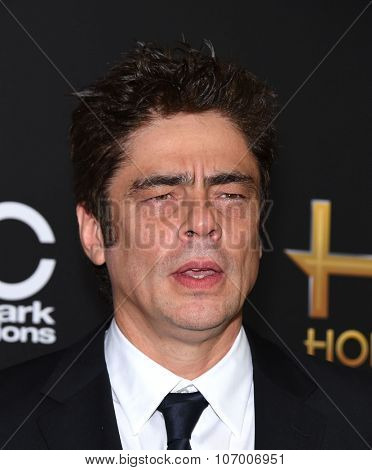 LOS ANGELES - NOV 1:  Benicio Del Toro arrives to the Hollywood Film Awards 2015 on November 1, 2015 in Hollywood, CA.
