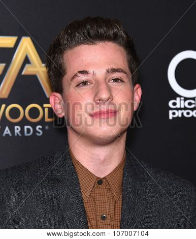 LOS ANGELES - NOV 1:  Charlie Puth arrives to the Hollywood Film Awards 2015 on November 1, 2015 in Hollywood, CA.