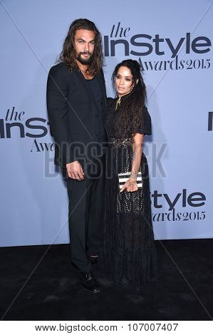 LOS ANGELES - OCT 26:  Lisa Bonet & Jason Momoa arrives to the InStyle Awards 2015  on October 26, 2015 in Hollywood, CA.