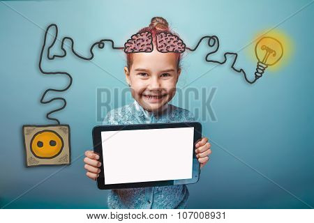 young girl holding a plate and having fun smiling happy igniter c