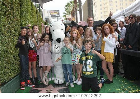 LOS ANGELES - NOV 2:  Snoopy, Voice cast of