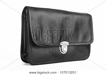 Black Personal Small Bag Isolated On White
