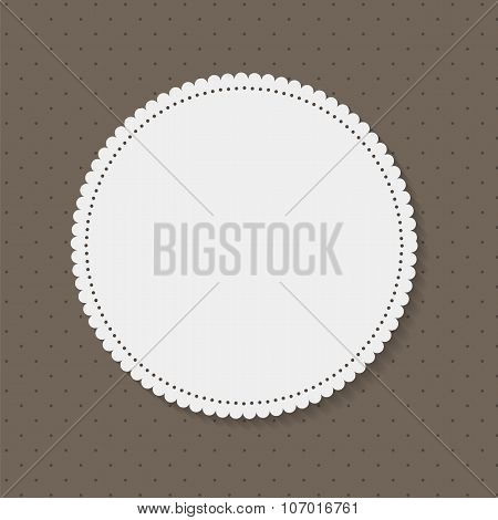 Frame in Vintage Background. Vector Illustration