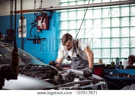 Looking Inside Car Bonnet