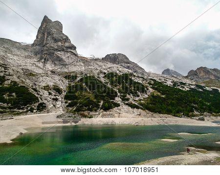 Dolomite alps Italy Mountain lake