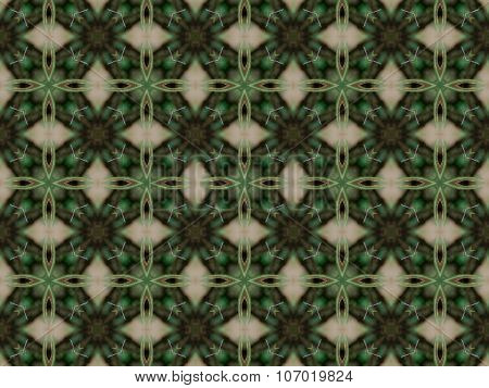 Green Abstract Kaleidoscope Background
