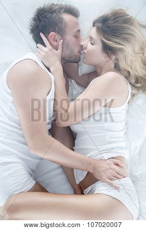 Affectionate Couple During Intimate Scene
