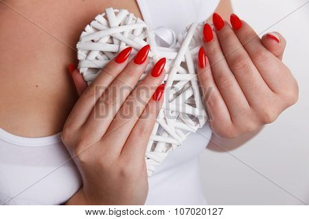 Closeup Of Red Nails