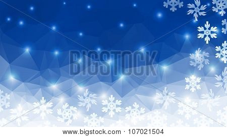 polygonal winter background