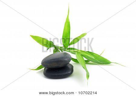 Steine mit Bambus