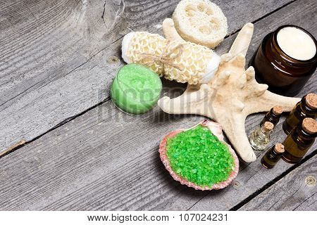 Spa And Pampering Products And Accessories Background