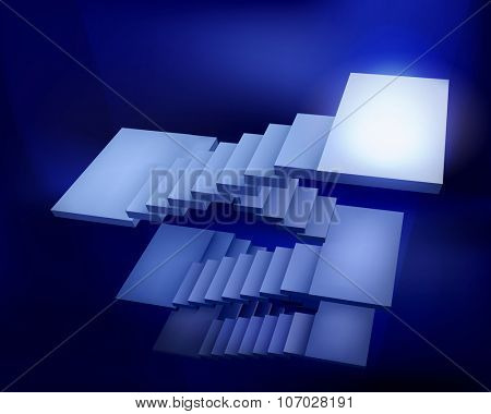 Staircase. Vector Illustration.