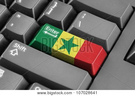 Enter Button With Senegal Flag