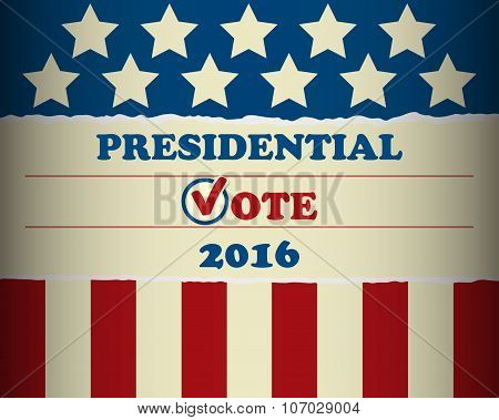 USA 2016 Presidential Vote - template