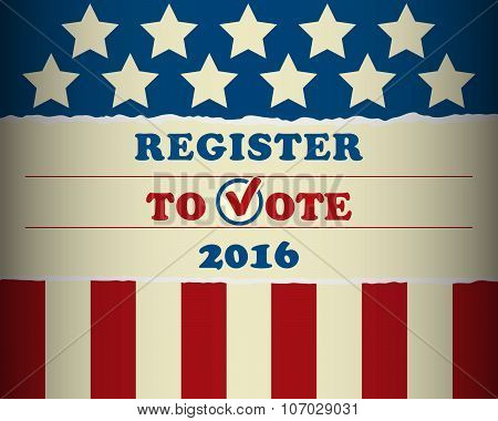 USA 2016 Register To Vote - template