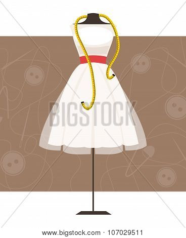 Mannequin With Dress. Vector Illustration