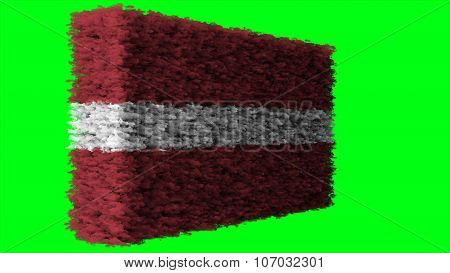 flag of Latvia, Latvian flag made from clouds