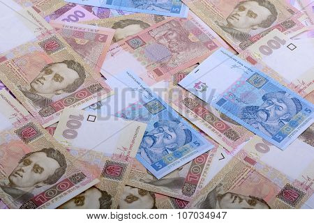 Background Of The Ukrainian Money - Uah