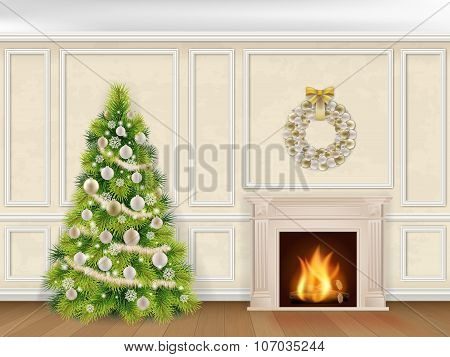 Christmas Interior In Classic Style