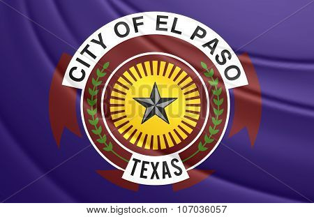 Flag Of El Paso (texas), Usa.