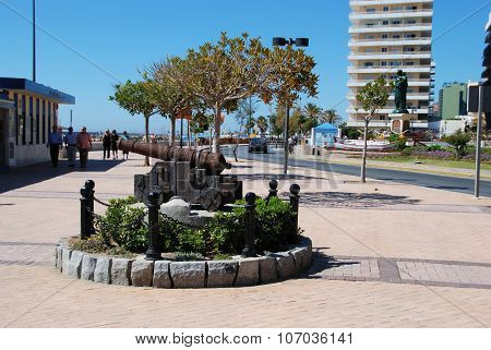 Cannon on Fuengirola seafront.
