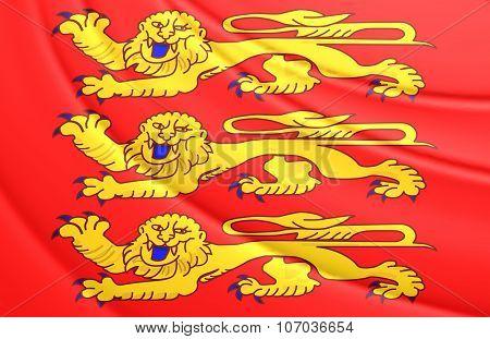 Flag Of Upper Normandy, France.
