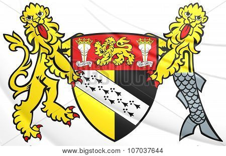 Norfolk County Coat Of Arms, England.