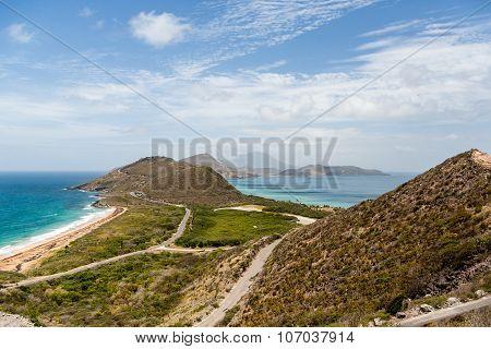 Roads Along Hills Over Beaches