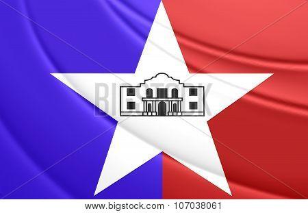 Flag Of San Antonio (texas), Usa.