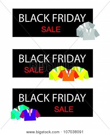 Polo Shirts On Black Friday Sale Banner