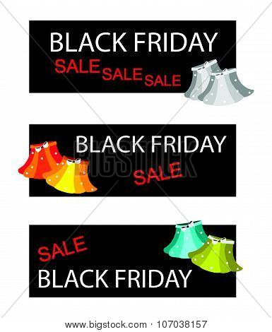 Skirts On Three Black Friday Sale Banners