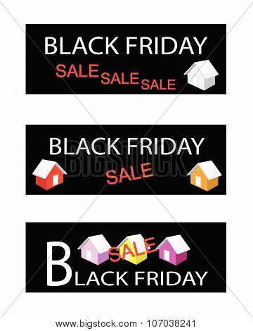 House On Three Black Friday Sale Banners