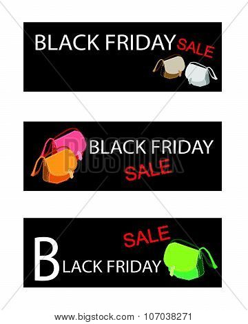 Purse On Three Black Friday Sale Banners