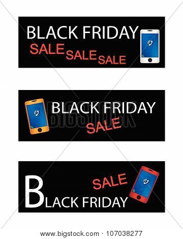 Black Friday Shopping Promotion With Smart Phone