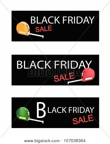 Tape Measure On Black Friday Sale Banners