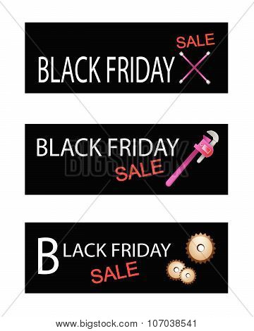 Repair Tools Kits On Black Friday Banners