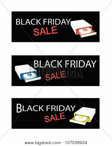 Disk Drive On Black Friday Sale Banners