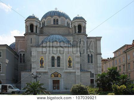 Saint Spiridon Church In Trieste, Italy