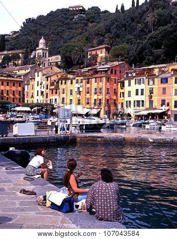 Portofino harbour, Italy.