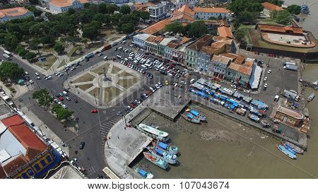 BELEM DO PARA, BRAZIL - CIRCA NOVEMBER 2015: Aerial view of Belem do Para in Brazil